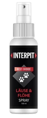 Interpit LÄUSE & FLÖHE Spray, Hochwirksam & gut duftendes Naturprodukt für Haustiere - Milben + Flohmittel für Katze & Hund   100ml