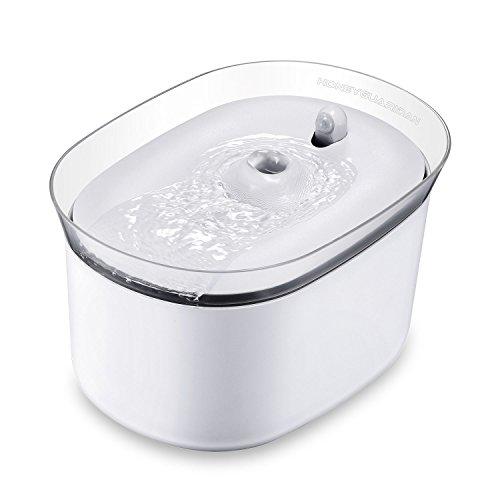 honeyguaridan automatischer Smart Haustier Wasserbrunnen mit Infraroterkennung, Haustier trinkbrunnen konzeptiert für Hunde und Katzen - Eine Packung mit 2 Karbonfilter