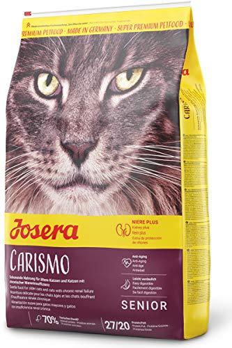 JOSERA Carismo, Katzenfutter für ältere Katzen oder Katzen mit chronischer Niereninsuffizienz, Super Premium Trockenfutter, 1er Pack (1 x 10 kg)